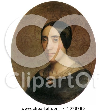 Portrait of Amelina Dufaud Bouguereau by William-Adolphe Bouguereau - Royalty Free Historical Clip Art  by JVPD
