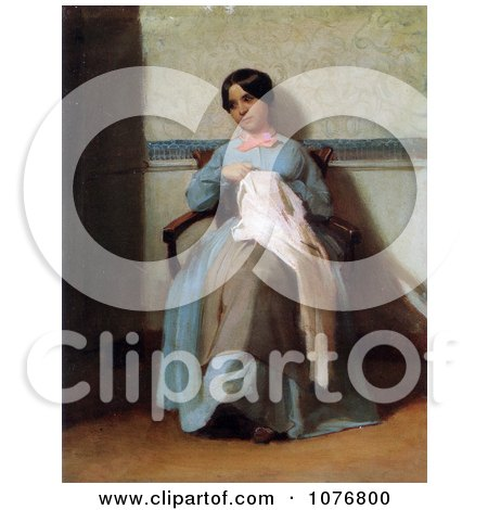 Portrait of Leonie Bouguereau by William-Adolphe Bouguereau - Royalty Free Historical Clip Art  by JVPD