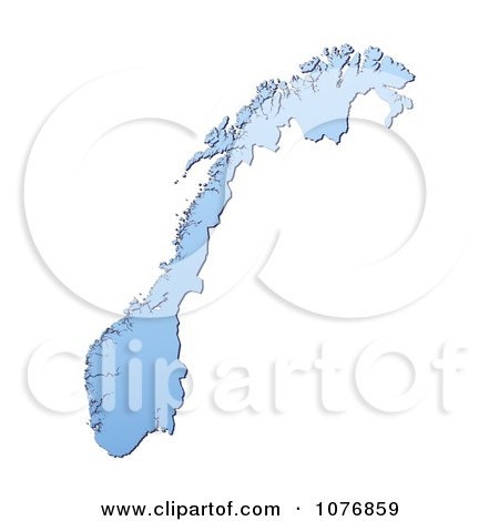 Clipart Gradient Blue Israel Mercator Projection Map Royalty - Norway map clipart