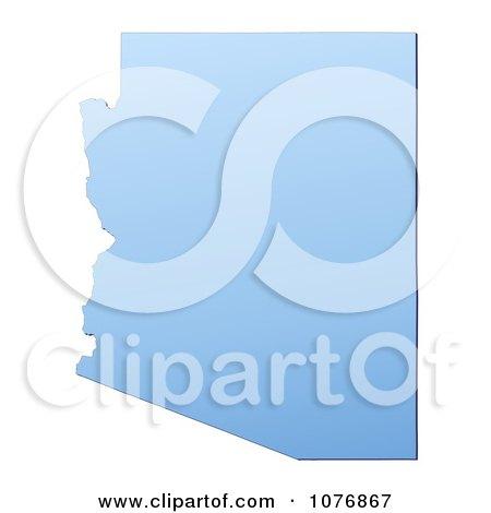 Clipart Gradient Blue Arizona United States Mercator Projection Map - Royalty Free CGI Illustration by Jiri Moucka