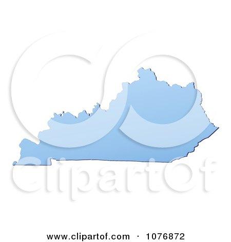 Clipart Gradient Blue Kentucky United States Mercator Projection Map - Royalty Free CGI Illustration by Jiri Moucka