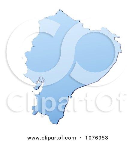 Royalty free rf ecuador map clipart illustrations vector graphics 1 gradient blue ecuador mercator projection map by jiri moucka publicscrutiny Choice Image