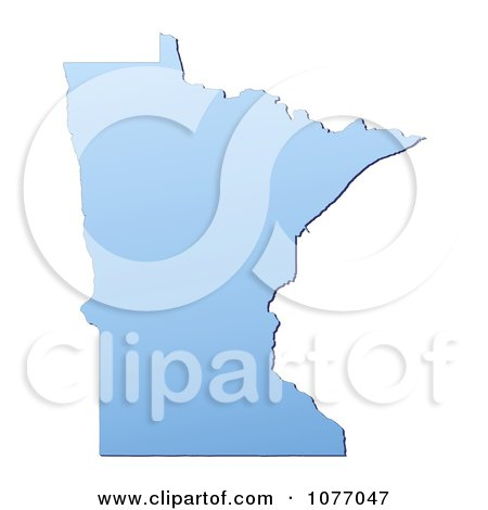 Clipart Gradient Blue Minnesota United States Mercator Projection Map - Royalty Free CGI Illustration by Jiri Moucka