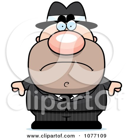 Clipart Mad Mobster - Royalty Free Vector Illustration by Cory Thoman