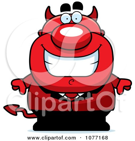 Clipart Devil Businessman - Royalty Free Vector Illustration by Cory Thoman