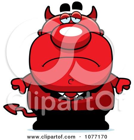 Clipart Sad Devil Businessman - Royalty Free Vector Illustration by Cory Thoman