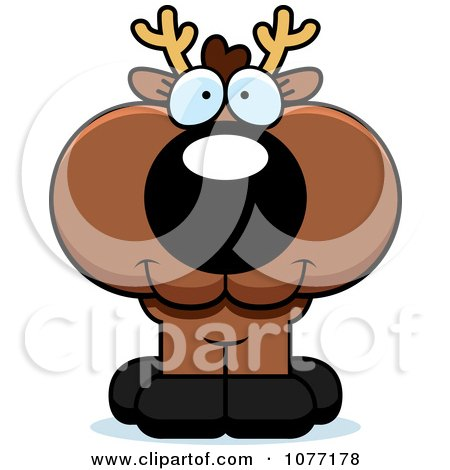 Clipart Cute Deer With A Happy Expression - Royalty Free Vector Illustration by Cory Thoman