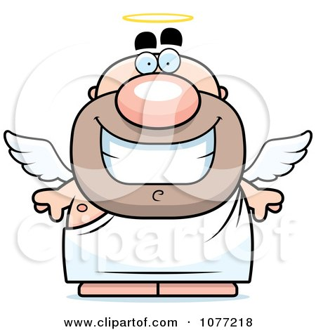 Clipart Happy Angel Man - Royalty Free Vector Illustration by Cory Thoman