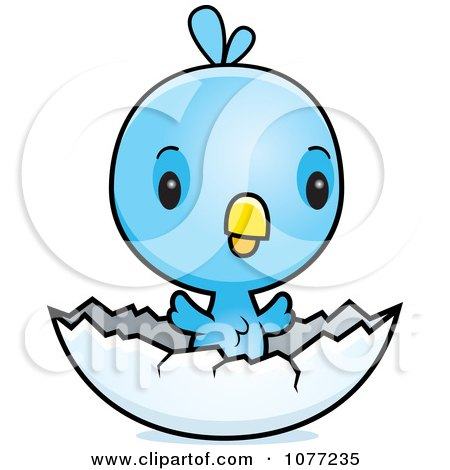 Clipart of a Happy Flying Blue Jay - Royalty Free Vector ...
