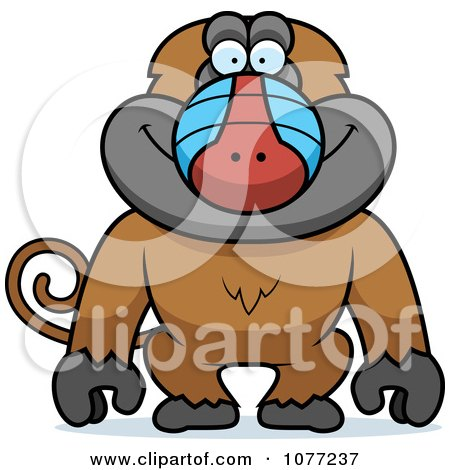 Clipart Baboon Monkey - Royalty Free Vector Illustration by Cory Thoman