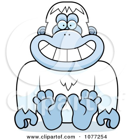 Clipart Sitting Yeti Abominable Snowman Monkey - Royalty Free Vector Illustration by Cory Thoman