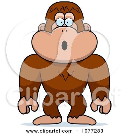 Clipart Shocked Bigfoot Sasquatch - Royalty Free Vector Illustration by Cory Thoman