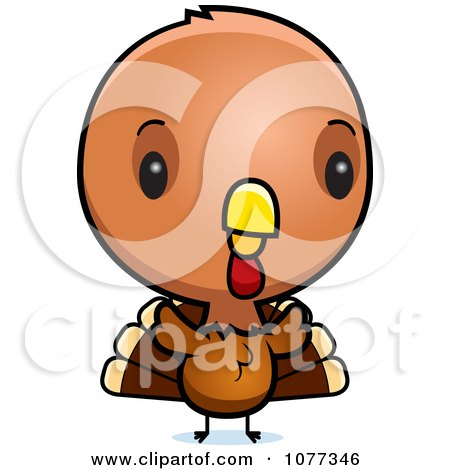 Clipart Cute Baby Turkey Bird - Royalty Free Vector Illustration by Cory Thoman