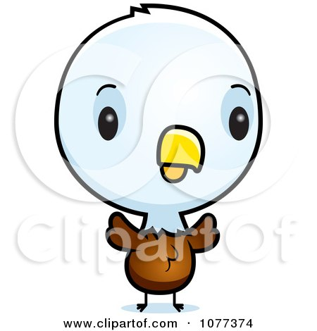 Clipart Cute Baby Bald American Eagle Chick - Royalty Free Vector Illustration by Cory Thoman