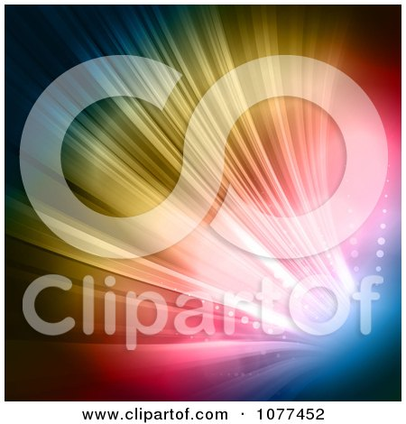 Clipart Background Of Shining Colorful Lights - Royalty Free Vector Illustration by KJ Pargeter