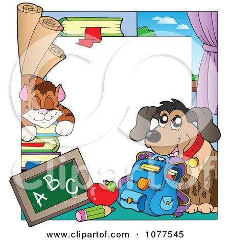 Cat And Dog School Frame Posters, Art Prints