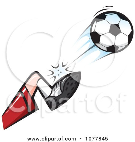 Player Kicking A Soccer Ball 2 Posters, Art Prints
