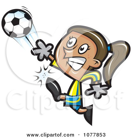 Girl Soccer Player 2 Posters, Art Prints