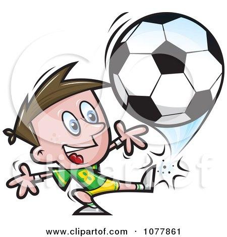 Boy Soccer Player 4 Posters, Art Prints