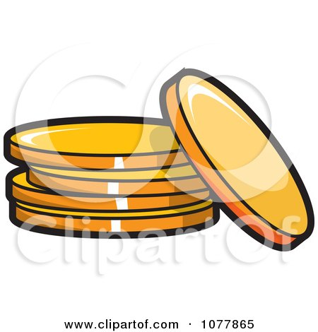 Clipart Gold Coins - Royalty Free Vector Illustration by jtoons