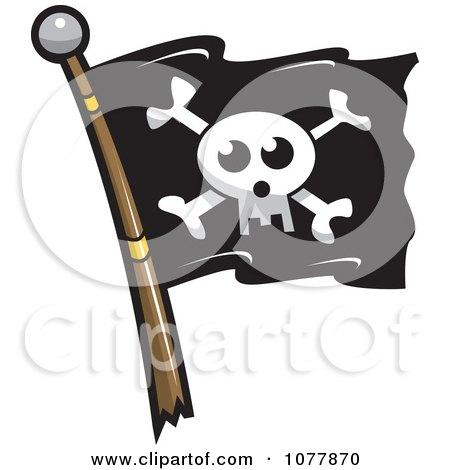 Clipart Skull Jolly Roger Pirate Flag - Royalty Free Vector Illustration by jtoons