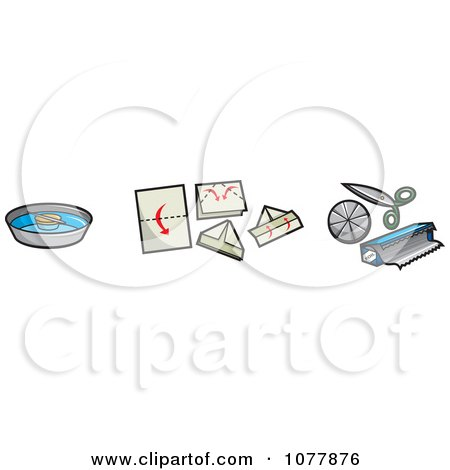 Clipart Pirate Gear Items - Royalty Free Vector Illustration by jtoons