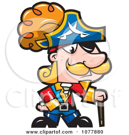 Clipart Pirate Captian - Royalty Free Vector Illustration by jtoons