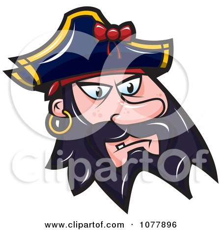 Clipart Pirate Face - Royalty Free Vector Illustration by jtoons
