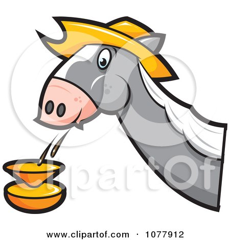 Clipart Horse Spitting - Royalty Free Vector Illustration by jtoons