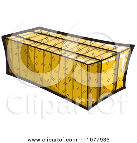 Clipart Bale Of Hay - Royalty Free Vector Illustration by jtoons