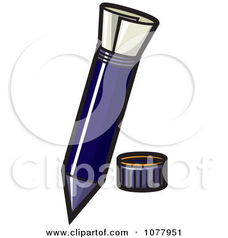 Clipart Secret Message Pen - Royalty Free Vector Illustration by jtoons