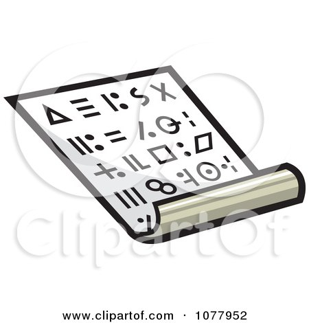 Clipart Secret Coded Message - Royalty Free Vector Illustration by jtoons