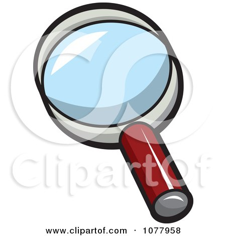 Clipart Spy Gear Magnifying Glass - Royalty Free Vector Illustration by jtoons