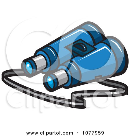 Clipart Spy Gear Binoculars - Royalty Free Vector Illustration by jtoons