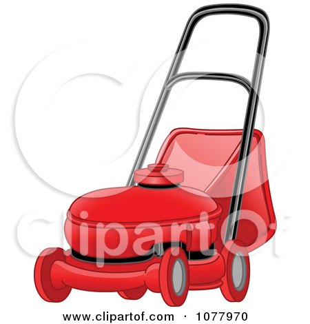 Clipart Red Landscaping Lawn Mower - Royalty Free Vector Illustration by yayayoyo