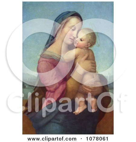 Woman Holding a Baby, Tempi Madonna by Raphael Posters, Art Prints