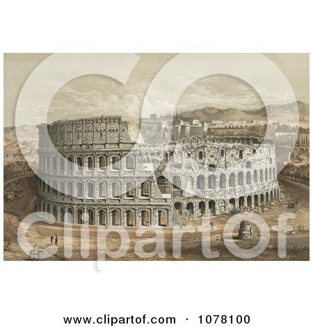 The Roman Coliseum - Royalty Free Historical Clip Art by JVPD