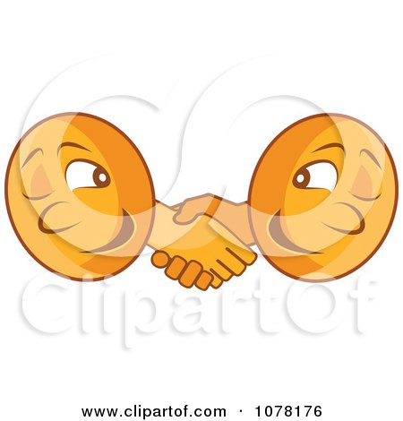 Two Coins Shaking Hands Posters, Art Prints