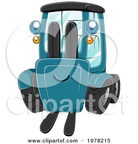 Clipart Blue Eyed Forklift Character - Royalty Free Vector Illustration by BNP Design Studio