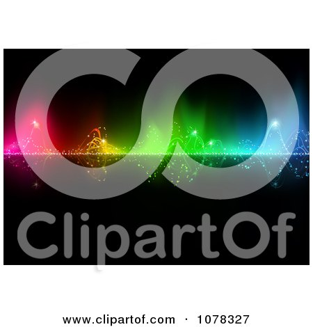Clipart Colorful Water Splashing Through Lights - Royalty Free Vector Illustration by dero