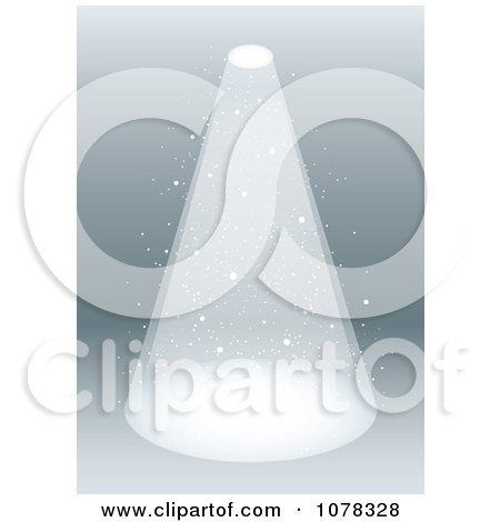 Clipart Smokey Stage Spotlight Shining Down - Royalty Free Vector Illustration by michaeltravers