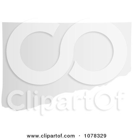 Clipart Gray Torn Page Corner - Royalty Free Vector Illustration by michaeltravers