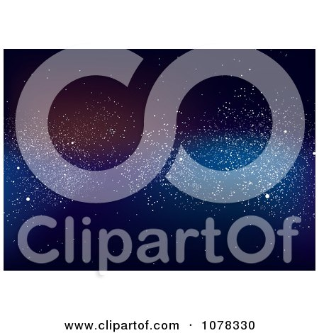 Clipart Starry Celestial Outer Space Background - Royalty Free Vector Illustration by michaeltravers