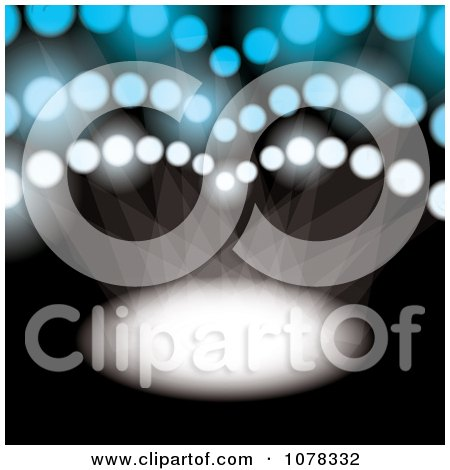 Clipart Sports Spotlight Shining Down - Royalty Free Vector Illustration by michaeltravers