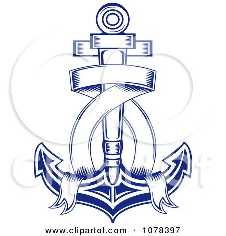 Anchor Ribbon Tattoo