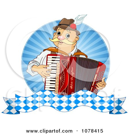 Clipart Happy Oktoberfest Man Playing An Accordion - Royalty Free Vector Illustration by Pushkin