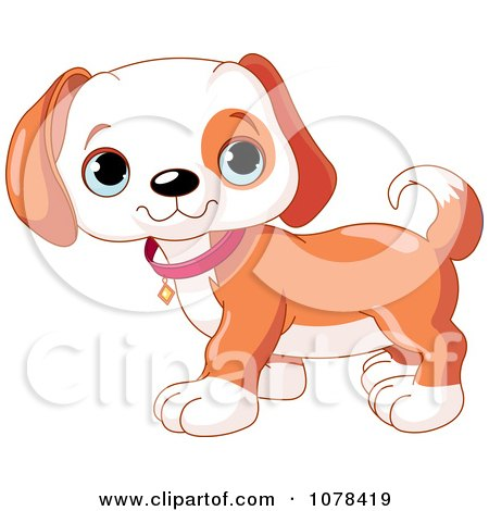 Clipart Cute Beagle Puppy Standing - Royalty Free Vector ...