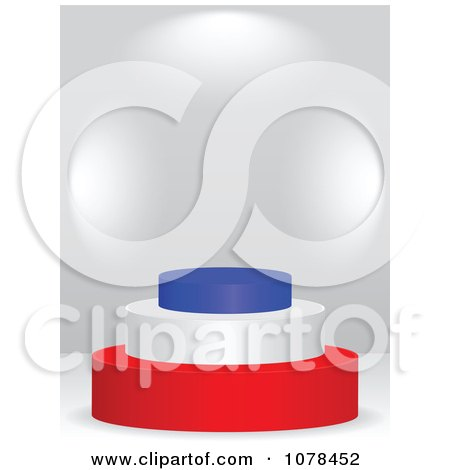 Clipart 3d French Flag Podium - Royalty Free Vector Illustration by Andrei Marincas