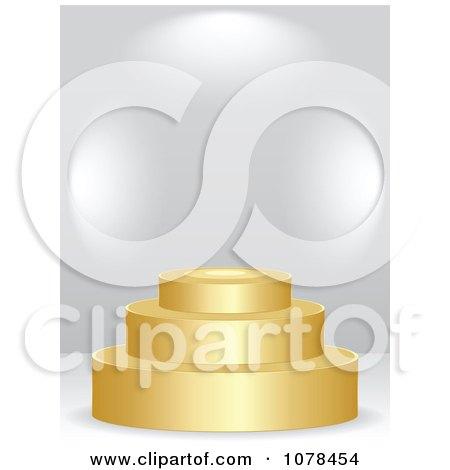 Clipart 3d Golden Podium - Royalty Free Vector Illustration by Andrei Marincas