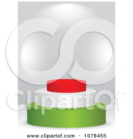 Clipart 3d Hungarian Flag Podium - Royalty Free Vector Illustration by Andrei Marincas